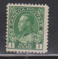 CANADA Scott # 104 MNG - KGV Admiral Issue - NO GUM - 1911-1935 Reign Of George V