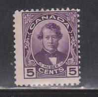 CANADA Scott # 146 MH - Darcy McGee - Spot Of Missing Gum - 1911-1935 Règne De George V
