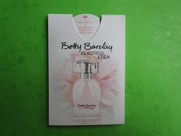 BETTY BARCLAY - BEAUTIFUL EDEN   - Carte Parfumée PUFFER - Cartes Parfumées