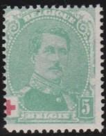 Belgie   .    OBP     .     129    .    **      .     Postfris    .    /    .    MNH - 1914-1915 Croix-Rouge