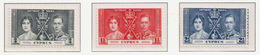 CYPRUS 1937 - Set MNH** - Unused Stamps