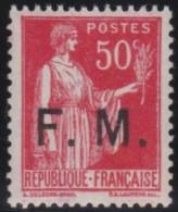 Frankrijk    .   Yvert     .   Fm  7       .    **      .     Postfris    .    /    .    MNH - Militaire Zegels (zonder Portkosten)