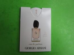 ARMANI - SI  - Carte Parfumée PUFFER - Cartes Parfumées