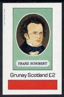 4426 (music) Grunay 1982 Composers (Schubert) Imperf Deluxe Sheet (2 Value) Unmounted Mint - Music