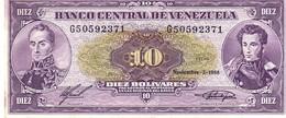 Venezuela P.62  10  Bolivares 1988 Unc - Venezuela