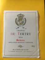 8239 - Château Du Tertre 1974 - Bordeaux