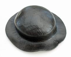Casque De Mineur Ou Barrette En Cuir Du Bassin HBNPC, Début XXème. Objets De La Mine, Mineur, Fosse. - Sciences & Technique