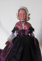Ancienne POUPÉE De Collection Costume Folklorique Bort Les Orgues. Ma Payse - Poupées