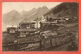 DA01-01 Wiler Im Lötschental Mit Blick Talsauswärts. Linie Bern Lötschberg Simplon. Nicht Gelaufen. Franco-Suisse - VS Valais