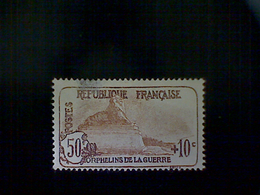 France, Scott #B21, Mint (*) Hinged, 1926 Semi-postal, Lion Of Belfort, (50+10)cts, Olive Brown And Dark Brown - France