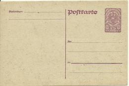 1919  Postkarte 25 Heller - Entiers Postaux