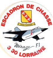 3/30 LORRAINE -  ESCADRON DE CHASSE - Autocollant - Aviation