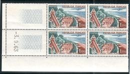FRANCE 1962 YT N° 1355 LE TOUQUET-PARIS-PLAGE, Bloc De 4 Coin Daté, ** - France