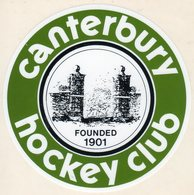 CANTERBURY HOCKEY CLUB - Autocollant - Hockey - Minors (Ligue Mineure)
