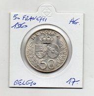 Belgio - 1960 - 50 Franchi - Argento - (FDC9735) - 08. 50 Franchi