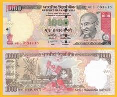 India 1000 Rupees P-100g 2011 Letter R  UNC - India