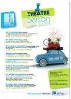 M - CARTE PUBLICITAIRE - THEATRE MUNICIPAL ODEON DE MARSEILLE - SAISON 2011 - 2012 - Other Collections