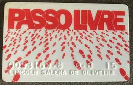 BRAZIL CREDIT CARD SAPPASO PASSOLIVRE SHOES' STORE - Credit Cards (Exp. Date Min. 10 Years)