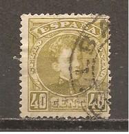 España/Spain-(usado) - Edifil  250 - Yvert 220 (o) - 1889-1931 Reino: Alfonso XIII