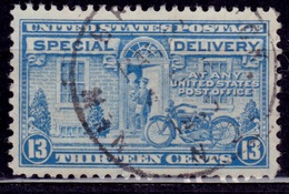 United States 1944, Special Delivery, Postman And Motorcycle, 13c, Sc#E17, Used - Special Delivery, Registration & Certified