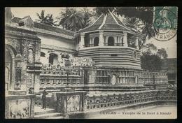 SRI LANKA - CEYLON - 1908 - TEMPLE DE LA DENT A KANDY - Sri Lanka (Ceylon)
