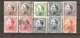 España/Spain-(usado) - Edifil  490-98 - Yvert  403-11 (o) - 1889-1931 Regno: Alfonso XIII