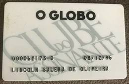 BRAZIL CARD JOURNAL SUBSCRIBER CLUB - O GLOBO - 1996 - Credit Cards (Exp. Date Min. 10 Years)