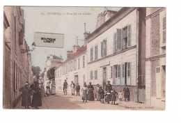 91 Corbeil Rue Du 14 Juillet Cpa Carte Couleur Ancienne Animée Colorisée Edit Mardelet - Corbeil Essonnes