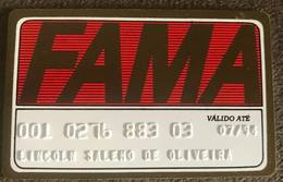 BRAZIL FAMA SHOP CREDIT CARD - 1994 - Credit Cards (Exp. Date Min. 10 Years)