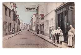 91 Corbeil Rue De La Poterie Magasin Boutique épicerie Cpa Carte Colorisée Animée Colorisée Edit Mardelet - Corbeil Essonnes