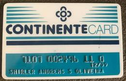 BRAZIL CONTINENTE CARD - SUPERMARKET - 1999 - Credit Cards (Exp. Date Min. 10 Years)