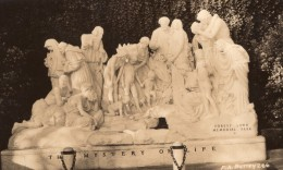 Californie Glendale Forest Lawn Memorial Park Statue Ancienne Carte Photo 1940's - Etats-Unis