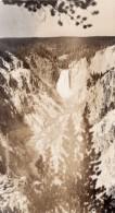 USA Wyoming Yellowstone Falls Cascades Ancienne Carte Photo Haynes 1940 ? - Yellowstone