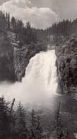 USA Wyoming Yellowstone Upper Falls Cascades Ancienne Carte Photo Haynes 1940 ? - Yellowstone