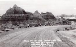 South Dakota Badlands National Park Cedar Pass Carte Photo Canedy's Camera Shop 1940 - Etats-Unis
