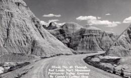 South Dakota Badlands National Park Highway 40 Carte Photo Canedy's Camera Shop 1940 - Etats-Unis