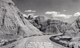 South Dakota Badlands National Park Highway 40 Carte Photo Canedy's Camera Shop 1940 - United States