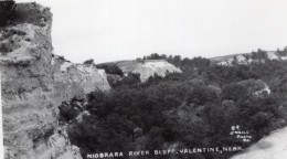 Nebraska Valentine Niobrara River Bluff Ancienne Carte Photo O'Neill 1940 - Etats-Unis