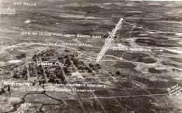 Washington Coulee City Dam Construction Barrage Ancienne Carte Photo 1947 - United States