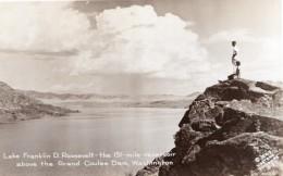 Washington Lake Franklin Roosevelt Grand Coulee Dam Ancienne Carte Photo 1947 - United States