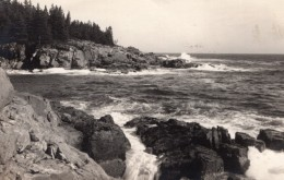 Acadia National Park Mount Desert Island Little Hunters Beach Ancienne Carte Photo 1949 - Etats-Unis