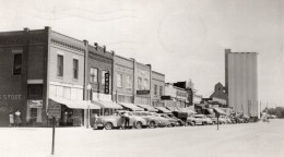 Nebraska Gordon Rue Principale Magasins Automobiles Ancienne Carte Photo 1952 - Etats-Unis