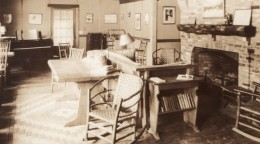 New Hampshire Pinkham Lodge Appalachian Mountain Club Ancienne Carte Photo 1937 - United States