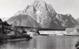 Wyoming Moran Jackson Lake Dam Barrage Lac Ancienne Carte Photo 1940 - Etats-Unis