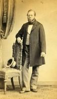 Allemagne Altona Homme Mode Chapeau Ancienne Photo CDV Elhers 1870 - Alte (vor 1900)