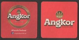 Sous-bocks  Bière -  Coasters Beer / Angkor Premium Beer  (Origine Cambodge)  - Usagé - Sous-bocks