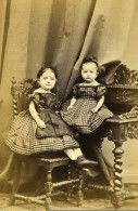 Allemagne Berlin Enfants Fillettes Mode Ancienne Photo CDV Lutze & Witte 1870 - Photographs