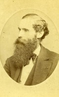 USA New York Homme Barbu Mode Ancienne Photo CDV Fredricks 1865 - Photographs