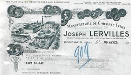 Facture / 59 NORD / BOUCHAIN / J. LERVILLES / 1948 / Manufacture De Chicorée Extra - Francia