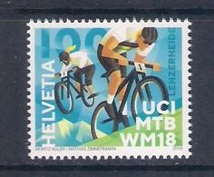 Svizzera • Switzerland (2018) UCI MTB World Championships 2018 - Single Stamp (MNH) As Scan - Mountain Bike